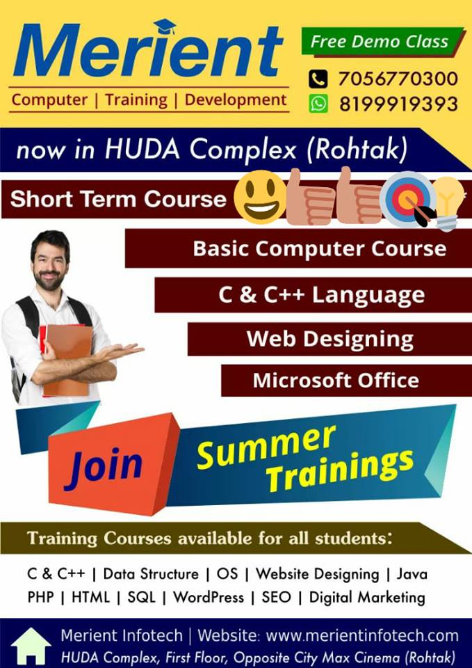 Summer Training Courses in Rohtak